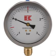 "Manometer 1/2"" Ø100mm 1-3 bar met glycerine productfoto"
