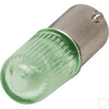 Neon lamp BA9S 240V 0,3W groen productfoto