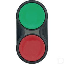 Dubbele drukknop Groen-rood productfoto