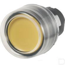 Drukknop met rubber kap geel productfoto
