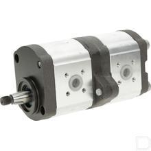 Hydrauliekpomp dubbel 11+8cc/omw linksom productfoto