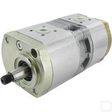 Hydrauliekpomp dubbel 11+4cc/omw conisch as 1:5 linksom productfoto
