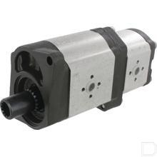 Hydrauliekpomp dubbel 32+11cc/omw linksom productfoto