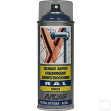Spuitbus kunstharslak acryl RAL5003 saffierblauw 400ml productfoto