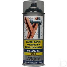 Spuitbus kunstharslak acryl RAL9005 diep zwart 400ml productfoto