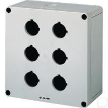 Drukknopkast 6 gaten 30mm 180x182x90mm productfoto