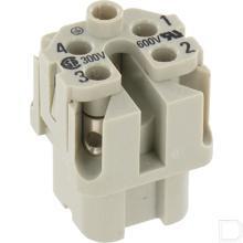 Busconnector A 4P schroefklem productfoto