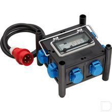 Compacte rubberen stroomverdeler met gecertificeerde stroomonderbreker productfoto