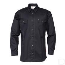 Overhemd zwart maat 40 / M productfoto