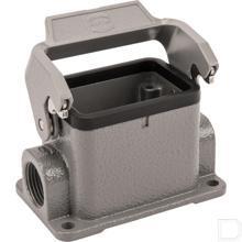 Chassisdeel 6B aluminium opbouw met 1 klemhaak en wartel M32x1,5mm voor kabel 15-21mm²  productfoto