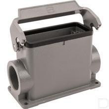 Chassisdeel 16B aluminium opbouw met 1 klemhaak en wartel M32x1,5mm voor kabel 15-21mm²  productfoto