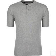T-shirt met knopen grijs maat L productfoto