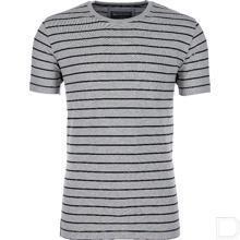T-shirt grijs/zwartgestreept XS productfoto