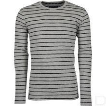 T-shirt Technical lange mouw grijs/zwart 4XL productfoto