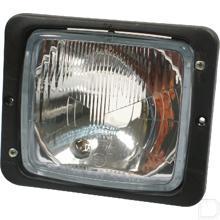 Koplamp universeel inbouw voor lampen R2 12/24V productfoto