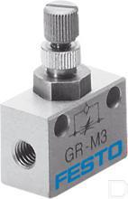 Smoorventiel met terugslagklep GR-M3 productfoto
