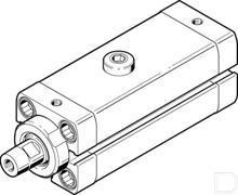 Lineaire zwaaiklem CLR-25-20-R-P-A-K11-R8 productfoto
