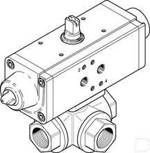 """Kogelkraan-aandrijfeenheid VZBA-2""""-GGG-63-32L-F0507-V4V4T-PS90-R-90-4-C productfoto"""