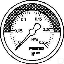 Manometer MA-50-0,25-R1/4-MPA-E-RG productfoto