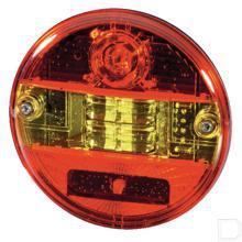 Achterlicht LED rond horizontale inbouw 12/24V productfoto