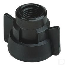 "Snelwisselkap 1/4"" NPT zwart productfoto"