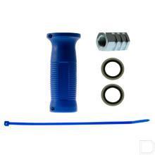 Snelkoppeling handgreep blauw Binnendraad/Binnendraad 18x150 productfoto