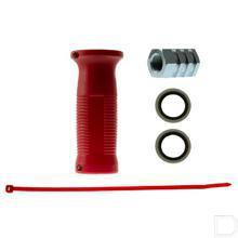 Snelkoppeling handgreep rood Buitendraad/Binnendraad 1/2 BSP productfoto