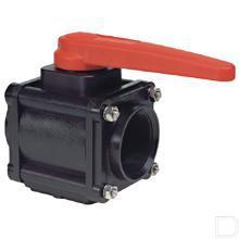 "2-weg-kogelkraan 3"" mannelijk, UHMW kogel productfoto"