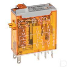 Fin Relais 2W 8A, 12VDC productfoto