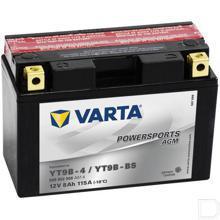 Start accu Powersports AGM 12V 8Ah 115A 149x70x105mm bodembevestiging B00 pooluitvoering Y11 productfoto