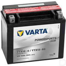 Startaccu Powersports AGM 12V 10Ah 152x88x131mm bodembevestiging B00 pooluitvoering Y5 productfoto