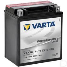 Start accu Powersports AGM 12V 14Ah 210A 150x87x161mm bodembevestiging B00 pooluitvoering Y4 productfoto