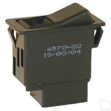 Eentrapsschakelaar veer retour met nachtverlichting OFF-ON 2 vlakstekkeraansluitingen 6,3mm 12/24V 16/8A productfoto