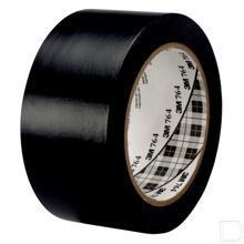 Vinyl tape 764 50mmx0.125mm rol 33m zwart productfoto