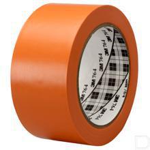 Vinyl tape 764 50mmx0.125mm rol 33m oranje productfoto