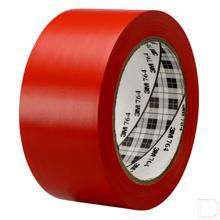 Vinyl tape 764 50mmx0.125mm rol 33m rood productfoto
