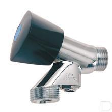 Beluchterkraan met keerklep Vernikkeld productfoto