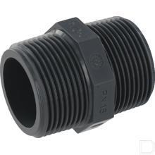 """Nippel 3/8"""" 2x buitendraad PVC-U productfoto"""