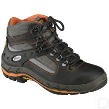 Werkschoen unisex S3 maat 43 hoog model zwart / oranje productfoto