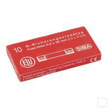 Zekering 1A 500V 6.35x32, 10 stuks voormm2,3,5,6 en 7 productfoto