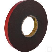 Dubbelzijdig tape acrylaat PT1100 6mm x 2000cm zwart 2stuks productfoto