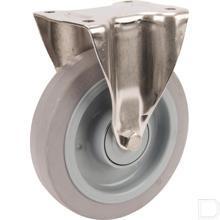 Bokwiel 200mm elastisch grijs rubber loopvlak productfoto