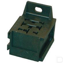 Stekkerdoos voor mini relais voor opname van 9 vlakstekkers productfoto
