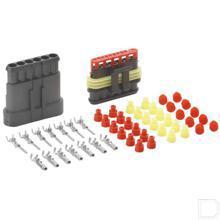 Kabelverbinderset 6 polig Superseal  productfoto