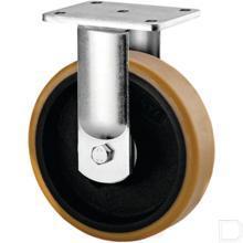 Bokwiel Ø80mm PU/staalplaat 500kg productfoto