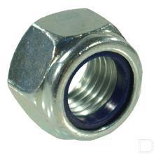 Hoge borgmoer met kunststof ring M20 verzinkt DIN982 productfoto
