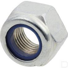 Borgmoer met kunststof ring M12x1,25 klasse 8 verzinkt DIN985 productfoto