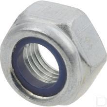 Borgmoer met kunststof ring 5/16 UNF klasse 8 verzinkt DIN985 productfoto