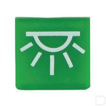 Wipschakelaar symbool groen binnenverlichting  productfoto