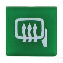 Wipschakelaar symbool groen spiegel verwarmd productfoto